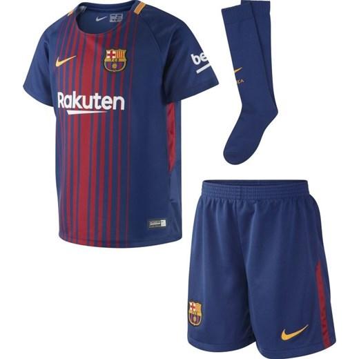 86bef04d7323a Komplet piłkarski Nike FC Barcelona Junior 847355-456 granatowy Cenga.pl