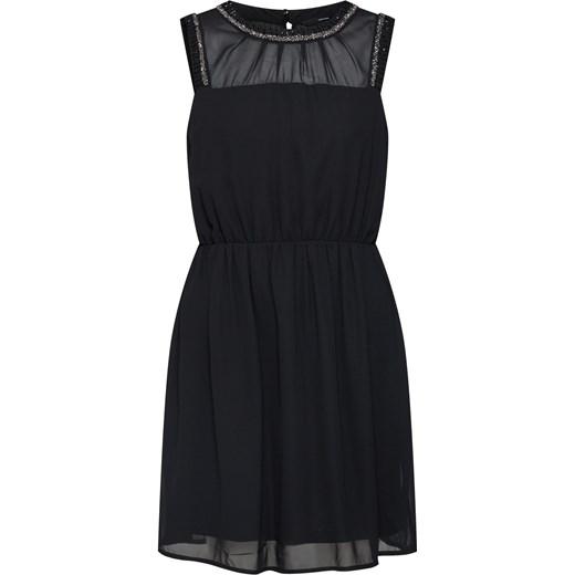 40bf20a894 Sukienka Vero Moda na sylwestra czarna gładka mini z okrągłym dekoltem ...