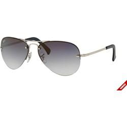 9e5a8e9e3ecc Srebrne okulary przeciwsłoneczne męskie ray-ban