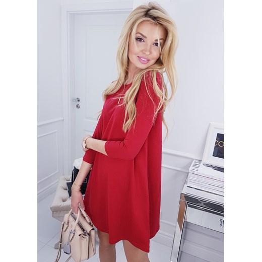 2c8d583915 Sukienka Cinamoon czerwona bawełniana na randkę w Domodi