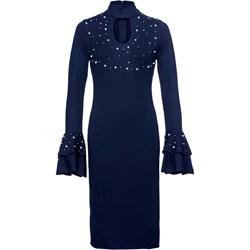 c01f7c03 Sukienka Bonprix Bodyflirt Boutique dopasowana midi na sylwestra z dekoltem  choker