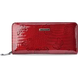 cde2f07fe8370 Portfel damski Lorenti bez wzorów czerwony glamour