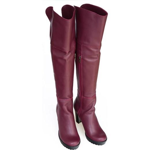 63f58cc0e30a5 ... słupku ze skóry eleganckie na zamek; Kozaki damskie Zapato ze skóry za  kolano eleganckie ...