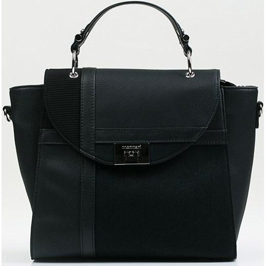 c5377fa5d7689 Shopper bag Monnari ze skóry ekologicznej czarna elegancka w Domodi