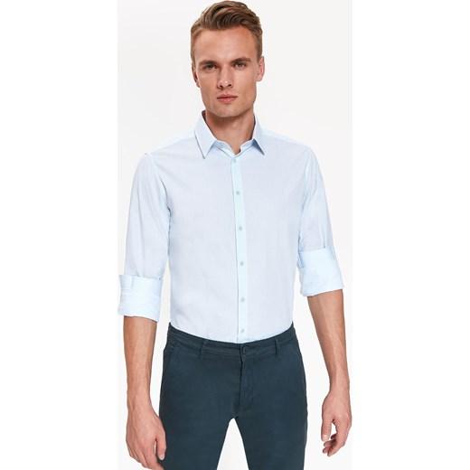 2cbb43830332e1 Koszula męska Top Secret elegancka Koszula męska Top Secret wiosenna z  długim rękawem gładka z klasycznym kołnierzykiem