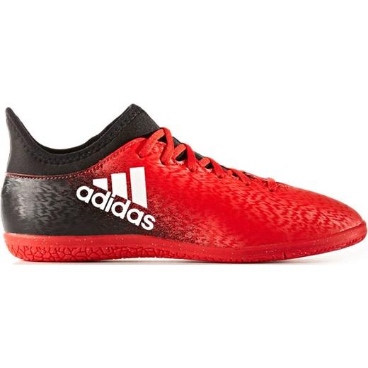 Buty pi?karskie halowe X 16.3 IN Junior Adidas (czerwono