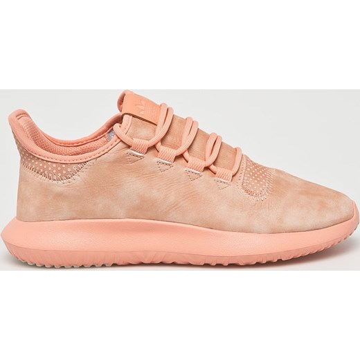 Buty sportowe damskie Adidas Originals do biegania tubular różowe bez wzorów sznurowane na koturnie
