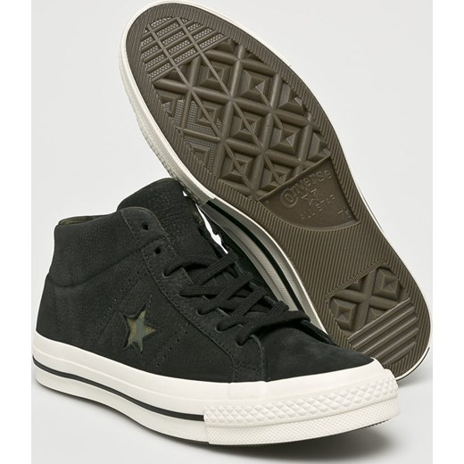 3b31b3e4e5c50 ... Trampki męskie Converse czarne młodzieżowe sznurowane skórzane ...