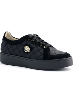 Czarne pikowane buty sportowe 63P Neścior  promocja NESCIOR  - kod rabatowy
