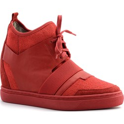 482b42cc8651ea Sneakersy damskie Neścior na koturnie sznurowane