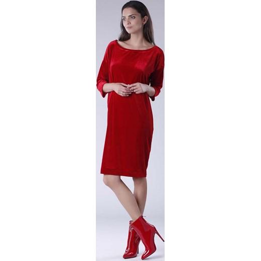 8a68caf823 Sukienka Nommo dopasowana dzienna z okrągłym dekoltem midi w Domodi