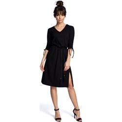 1aed137261 Be sukienka na co dzień z długim rękawem midi