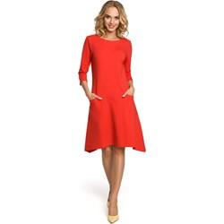 9450f47d71 Sukienka Moe z długim rękawem z okrągłym dekoltem midi