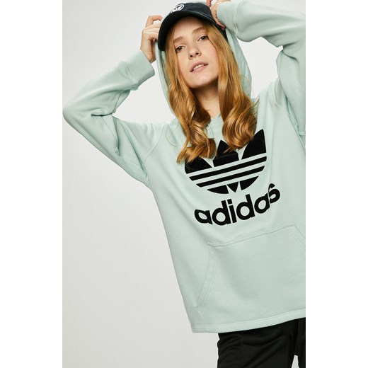tanio na sprzedaż dobra sprzedaż oficjalna strona Zielona bluza damska Adidas Originals dzianinowa na jesień