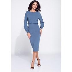 f469159b1041 Bien Fashion sukienka z długim rękawem z okrągłym dekoltem ołówkowa