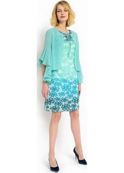 Elegancka narzutka Potis & Verso BLUSH turkusowy Potis & Verso Eye For Fashion - kod rabatowy