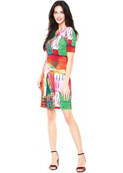 Wielokolorowa sukienka L'AF LURDES L'ame De Femme  Eye For Fashion - kod rabatowy