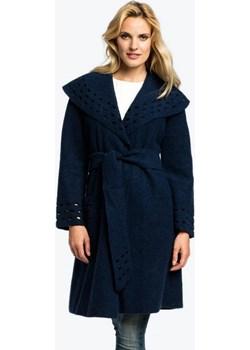 Granatowy płaszcz wełniany COAT czarny Potis & Verso okazja Eye For Fashion  - kod rabatowy