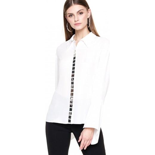 2e15ff27af ... Koszula damska Aneta Kręglicka X L af tkaninowa biała z długim rękawem  ...