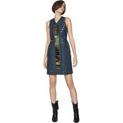 79d07fd6e8 Granatowa sukienka Aneta Kręglicka X L af w miejskim stylu