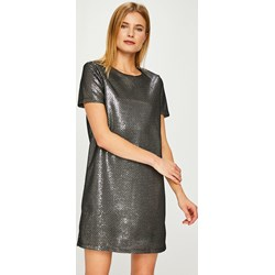 ac9828e63c Sukienka Noisy May srebrna na spacer z poliestru