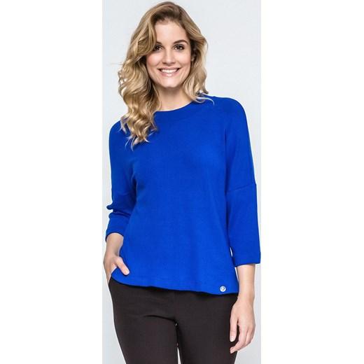 924ec47ae2 Bluzka damska Ennywear niebieska z długim rękawem jesienna w Domodi