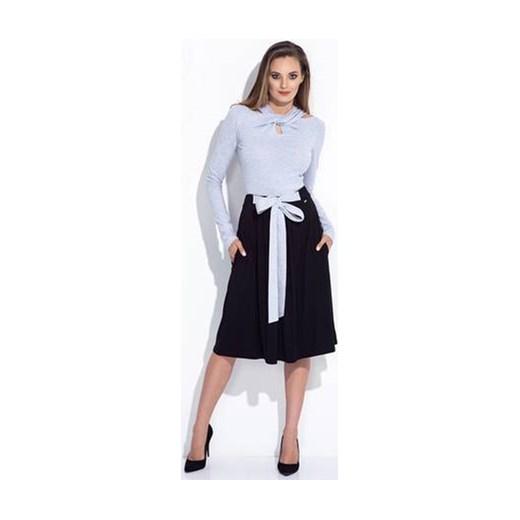 najlepszy Spódnica Bien Fashion wiosenna midi Odzież Damska QV czarny Spódnice QOUL