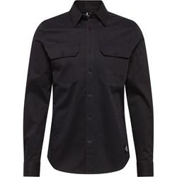 61c97f4b7 Koszula męska Calvin Klein z długim rękawem z klasycznym kołnierzykiem  czarna gładka