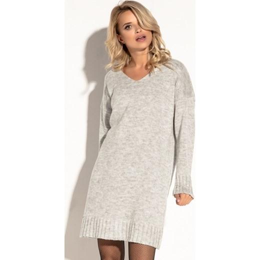 cd95cda4b8 Sukienka Fobya luźna biała oversize wełniana w Domodi