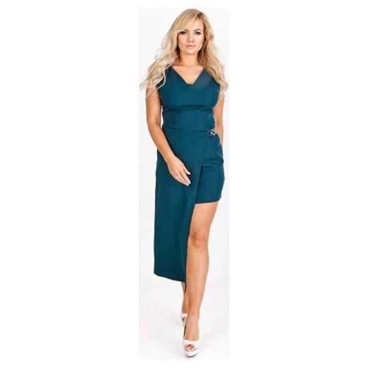 3505672d41 ... Sukienka Tęcza2 na sylwestra bez wzorów niebieska elegancka ...