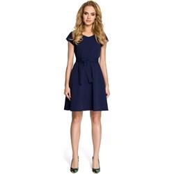 58bf3e94e0 Sukienka Moe bez wzorów z krótkim rękawem elegancka mini