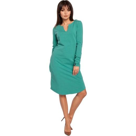dobry Sukienka Be wiosenna Odzież Damska BI zielony Sukienki
