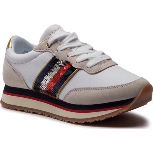 a87664c12bd7d Sneakersy damskie Tommy Hilfiger sznurowane sportowe w Domodi