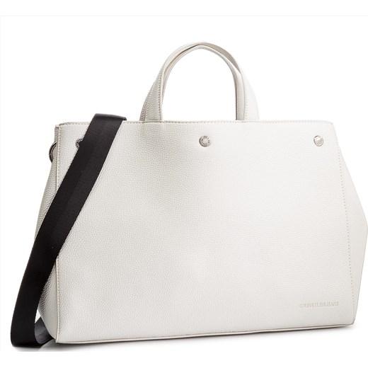 6178f65804cc5 Biała shopper bag Calvin Klein bez dodatków w Domodi
