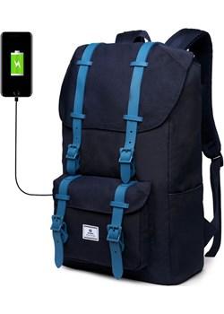 """Plecak Ozuko na laptopa 14,1"""" USB Kolor: granatowy Kk  inBag - kod rabatowy"""