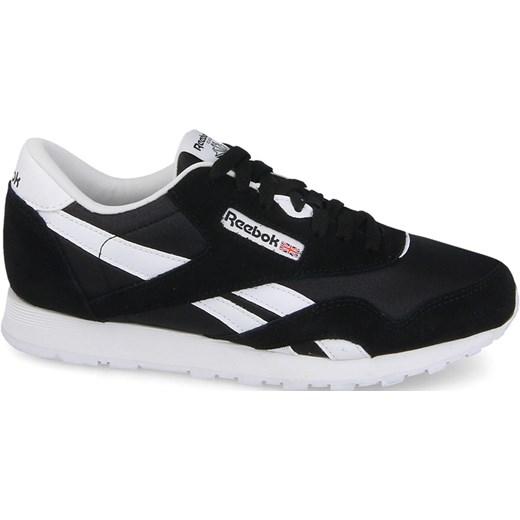 e093f0a66 Reebok Classic buty sportowe damskie nylon czarne wiązane bez wzorów  zamszowe na obcasie
