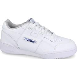 eaf474cd5c378 Buty sportowe damskie białe Reebok Classic workout na koturnie bez wzorów z  gumy