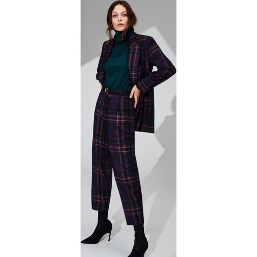 e838baa98569c ... Reserved - Garniturowe spodnie w kratę - Wielobarwn Reserved 40 ...