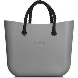 f1ad91c0a1edd Shopper bag O Bag szara bez dodatków młodzieżowa mieszcząca a6