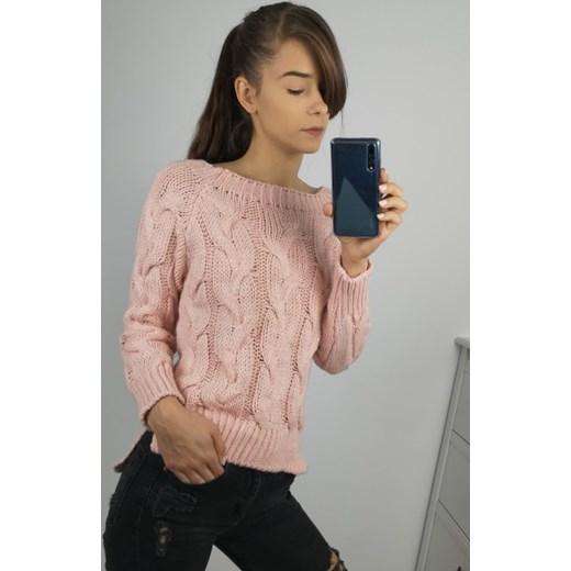c1b1e0980094ef Sweter damski różowy w Domodi