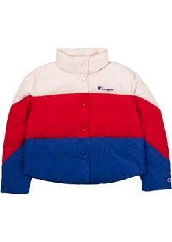Kurtka Damska Champion Reverse Weave Cropped Patchwork Jacket Off-White/Red/Blue (111067-YS047) Champion  StreetSupply - kod rabatowy