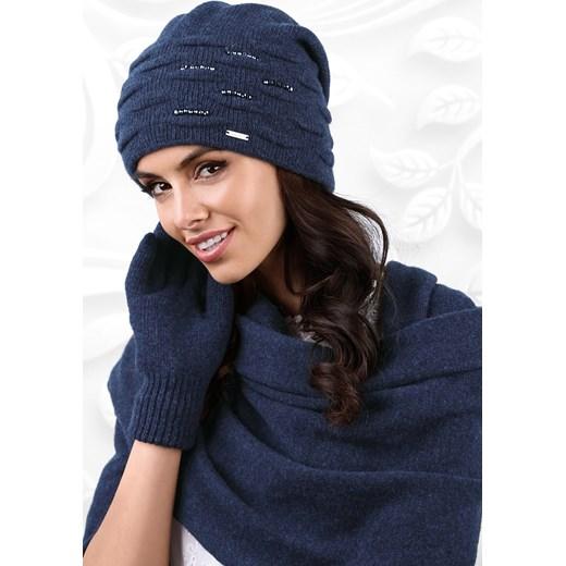 aee872a8194e Damska czapka Savona niebieski Kamea Astratex w Domodi
