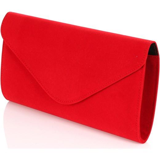 0618b42310b3e Zamszowa czerwona kopertówka W35z Salvare Centrum Modnych Torebek w ...