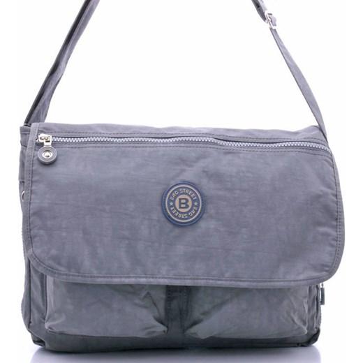 bd7a4a14e8531 Torba listonoszka materiałowa szara Bag Street Bag Street uniwersalny  Skorzana.com ...