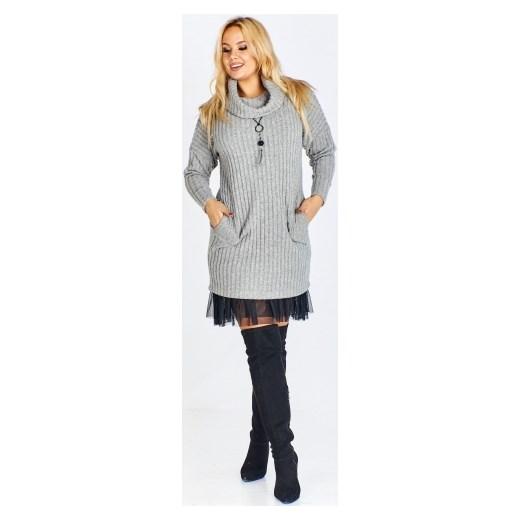 51d3e80141 Fokus sukienka na zimę z golfem casual w Domodi