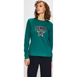 6feae884f0249 Niebieskie bluzy z nadrukiem damskie tommy hilfiger