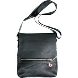 90d8a4335433e Vera Pelle. Czarna torba męska Pako Jeans ze skóry ekologicznej