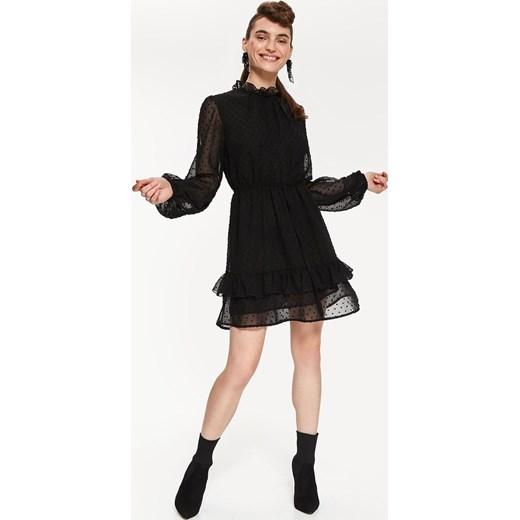 82c1e23f4aea96 Sukienka Top Secret z długimi rękawami z szyfonu w Domodi