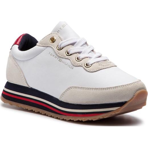 35f9443fe22f2 Sneakersy damskie Tommy Hilfiger płaskie z tworzywa sztucznego wiązane  sportowe jesienne
