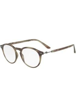 Okulary Giorgio Armani AR 7040 5587 50/19 145 A - oliwkowe w pasy, tytanowe zauszniki, okrągłe Giorgio Armani  okazyjna cena ROOMOUTLET.PL  - kod rabatowy